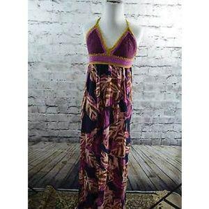 Mossimo Crochet Top Halter Maxi Dress
